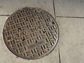 ニューヨークの下水道マンホール — ストック写真