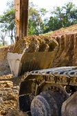 Back hoe standing in mining — Stock Photo