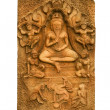 Buddha carved a low relief — Stock Photo