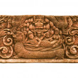 Carved sandstone king bed 1 — Stock Photo