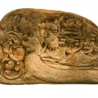 Carved sandstone  king bed - ストック写真