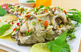 Spicy steamed fish — Stock Photo