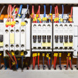 Control panel with circuit-breakers1 — Stock Photo #5834963