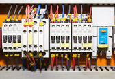 Panel de control con circuito-breakers1 — Foto de Stock