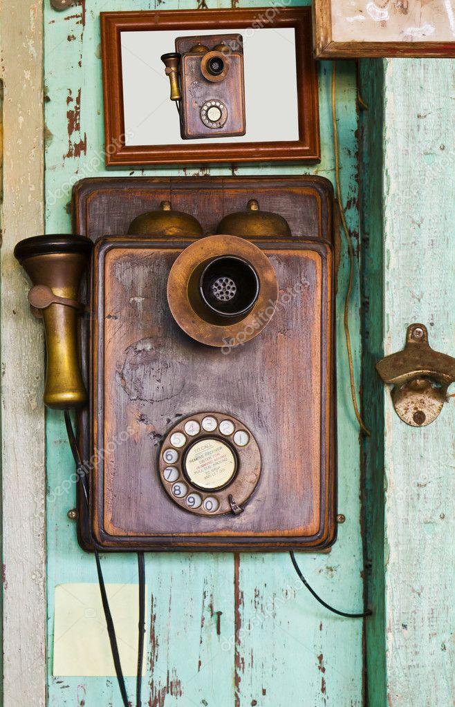 Винтажный телефон своими руками