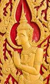 Thai art church door — Stock Photo