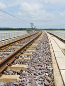 Railroad tracks curving1 — Stock Photo
