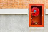 Extintores de incêndio na parede — Foto Stock