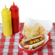 Stock Photo: July 4th, Independence Day, Hot Dog