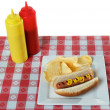 4 juli, independence day, hotdog — Stockfoto