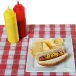 le 4 juillet, fête de l'indépendance, Hot-Dog — Photo