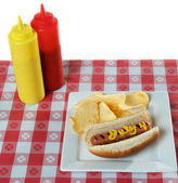 July 4th, Independence Day, Hot Dog — Foto Stock