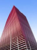 Red skyscraper — Stock Photo