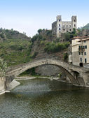The village of Dolceacqua — Stock Photo