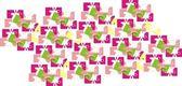 Färgade abstrakta bilder för tyg — Stockvektor