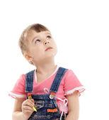 Criança com cor feltro marcador no sonho — Foto Stock