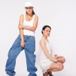 Young girl and tomboy - hip-hop style — Stock Photo