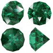 Emerald color jewel gem isolated — Stock Photo #5637242