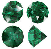 Emerald color jewel gem isolated — Stock Photo