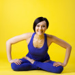 Young woman relax in happy yoga — Stock Photo
