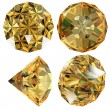Stock Photo: Yellow Diamond gem isolated