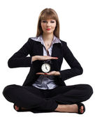 Yoga in business - easy time management isolated — Stock Photo