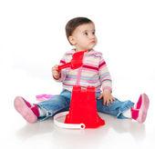 Little kid playing — Stock Photo