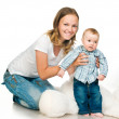 Mother with a baby — Stock Photo #5741465