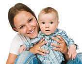 Mutter mit einem baby — Stockfoto