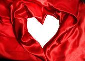 Red satin fabric — Stock Photo