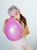Enfant avec des ballons — Photo