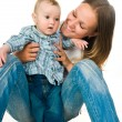 Mother with a baby - Stock Photo