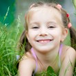 Little girl smiling — Stockfoto
