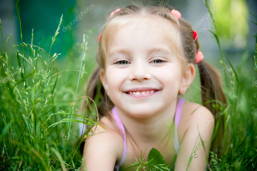 Little girl smiling — Stock Photo © GekaSkr #5954719