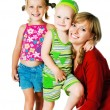 Stock Photo: Two small children with mother
