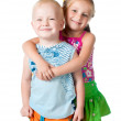 Little brother and sister — Stock Photo