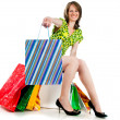 Woman with shopping bags — Stock Photo #6389044