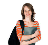 Beautiful young woman with a folder — Stock Photo