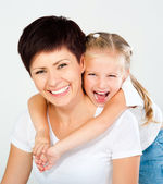 Mãe e filha rindo — Foto Stock
