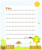 Blank paper with chickens vector — Stock Vector