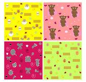 Children's seamless wallpaper vector — Stock Vector