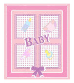 Vector card for baby shower — Stock Vector