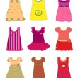 Royalty-Free Stock Vector Image: Dresses for girls set vector