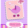 Stock Vector: Card for baby girl vector