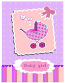 Card for baby girl vector — Stock Vector