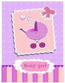 Card for baby girl vector — Stock Vector