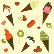 Stock Vector: Ice cream background