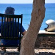 Urlauber in Santorin - Griechenland - Stock Photo