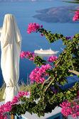 Idylle auf dem Balkon - Santorin - Griechenland — Stockfoto