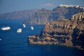 Kreuzfahrtschiffe in Fira - Santorin - Griechenland — Stock Photo